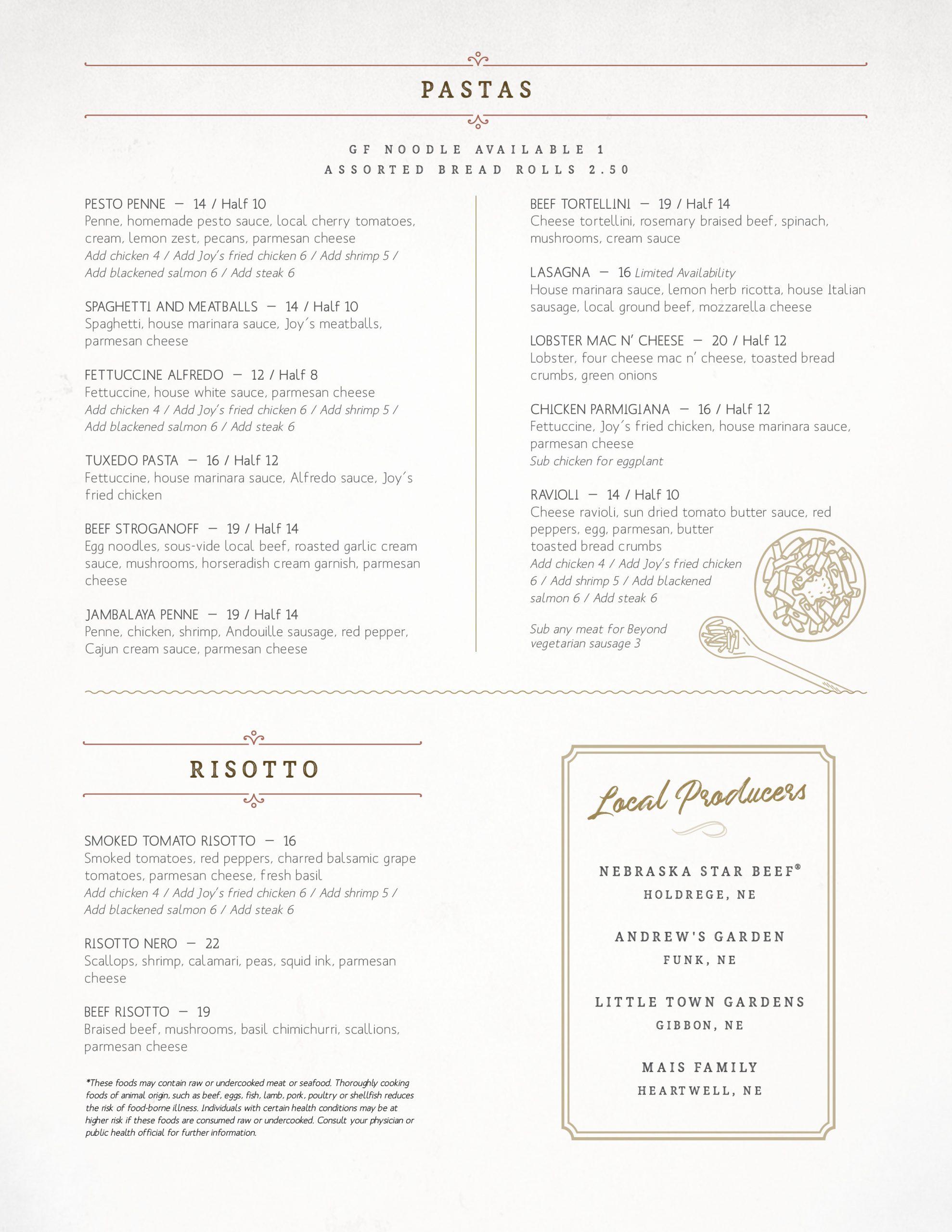 joy's menu 2
